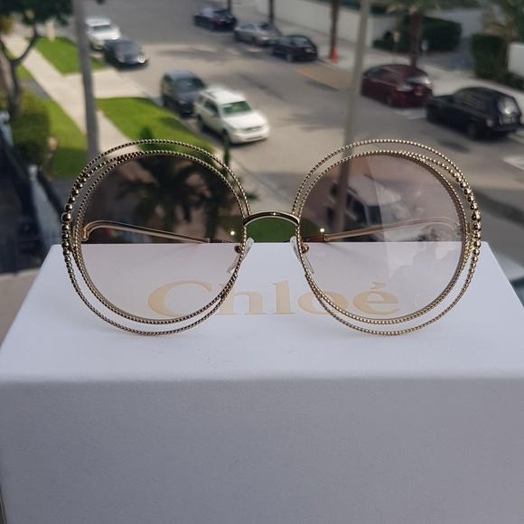 9f0647f9a861 Chloe Accessories | Women Carlina Oversized Round Sunglasses | Poshmark